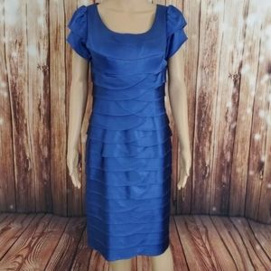 Cachet Dress Blue Satin 8